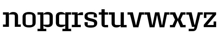 Roster Expanded Regular Font LOWERCASE
