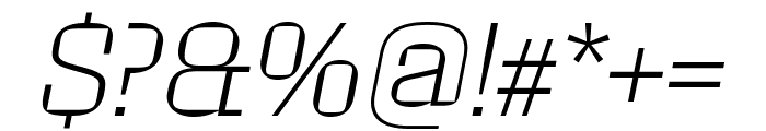 Roster Extra Light Italic Font OTHER CHARS