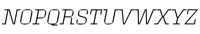 Roster Extra Light Italic Font UPPERCASE