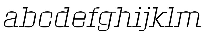 Roster Extra Light Italic Font LOWERCASE