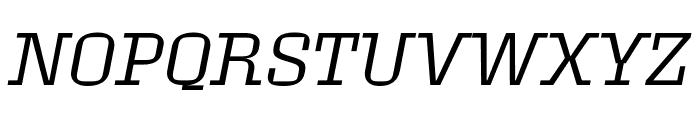 Roster Light Italic Font UPPERCASE