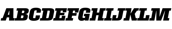 Roster Narrow Bold Italic Font UPPERCASE