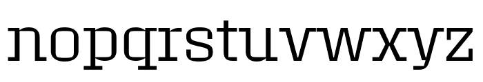 Roster Narrow Light Font LOWERCASE