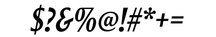 Roxy MediumItalic Font OTHER CHARS