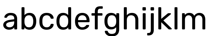 Rubik Regular Font LOWERCASE
