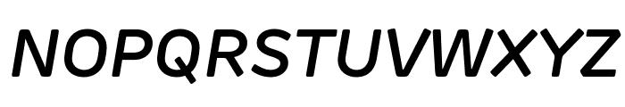 Rubrik Edge New SemiBold Italic Font UPPERCASE