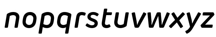 Rubrik Edge New SemiBold Italic Font LOWERCASE