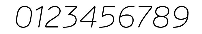 Rubrik New ExtraLight Italic Font OTHER CHARS