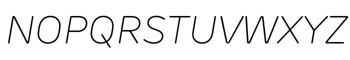 Rubrik New ExtraLight Italic Font UPPERCASE