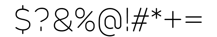 Rubrik New ExtraLight Font OTHER CHARS