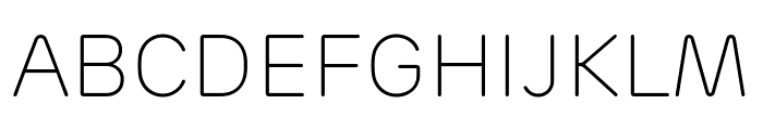 Rubrik New ExtraLight Font UPPERCASE