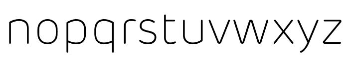 Rubrik New ExtraLight Font LOWERCASE