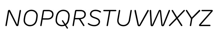 Rubrik New Light Italic Font UPPERCASE
