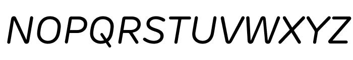 Rubrik New Regular Italic Font UPPERCASE