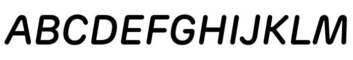 Rubrik New SemiBold Italic Font UPPERCASE