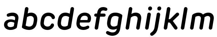 Rubrik New SemiBold Italic Font LOWERCASE