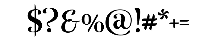 Rumba Large Font OTHER CHARS