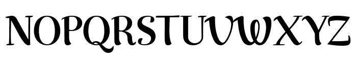 Rumba Small Font UPPERCASE