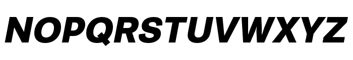 Runda Black Italic Font UPPERCASE