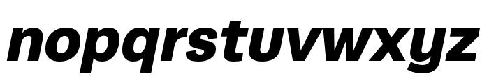 Runda Black Italic Font LOWERCASE