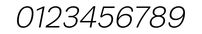 Runda Light Italic Font OTHER CHARS