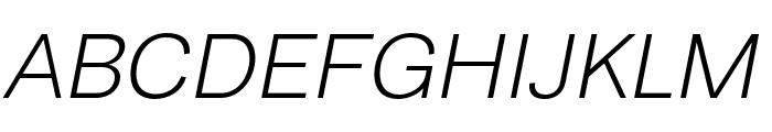 Runda Light Italic Font UPPERCASE