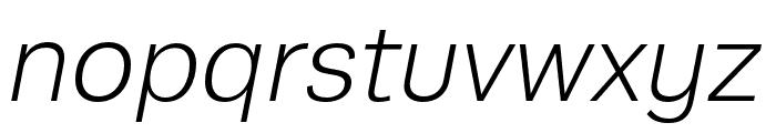 Runda Light Italic Font LOWERCASE