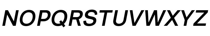 Runda Medium Italic Font UPPERCASE