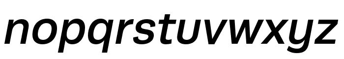 Runda Medium Italic Font LOWERCASE