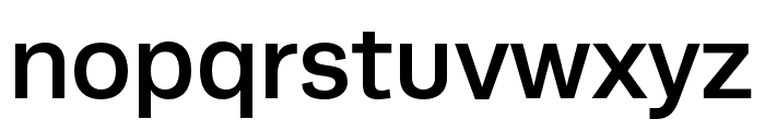 Runda Medium Font LOWERCASE