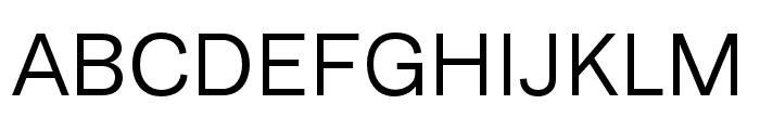 Runda Normal Font UPPERCASE