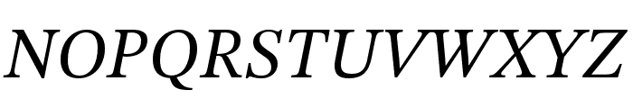 STIX Two Text Italic Font UPPERCASE