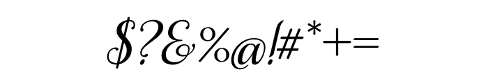 Samantha Italic Bold Regular Font OTHER CHARS