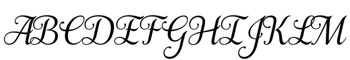 Samantha Italic Bold Regular Font UPPERCASE