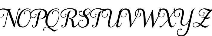 Samantha Upright Regular Font UPPERCASE