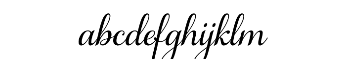 Samantha Upright Regular Font LOWERCASE