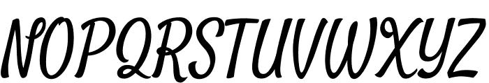 Satisfy Regular Font UPPERCASE
