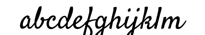 Satisfy Regular Font LOWERCASE
