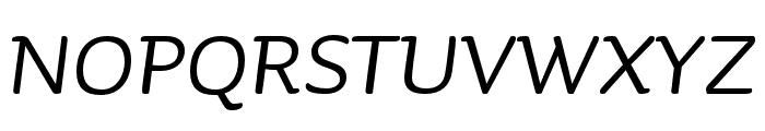 Sauna Mono Pro Regular Italic Font UPPERCASE