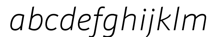 Schnebel Sans ME Expand Thin Italic Font LOWERCASE