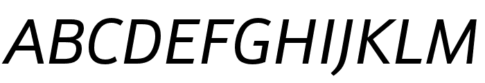 Schnebel Sans ME Italic Font UPPERCASE