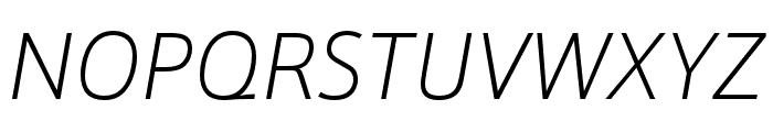 Schnebel Sans ME Thin Italic Font UPPERCASE