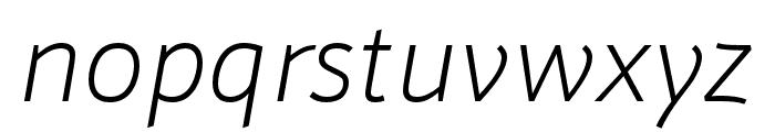 Schnebel Sans ME Thin Italic Font LOWERCASE