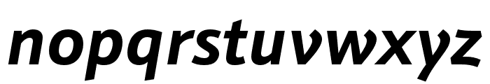 Schnebel Sans Pro Bold Italic Font LOWERCASE
