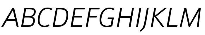Schnebel Sans Pro Comp Light Italic Font UPPERCASE