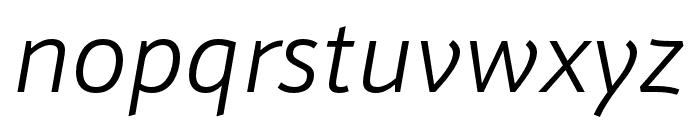 Schnebel Sans Pro Comp Light Italic Font LOWERCASE
