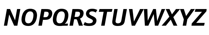 Schnebel Sans Pro Cond Bold Italic Font UPPERCASE