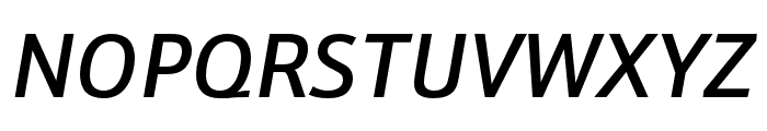Schnebel Sans Pro Cond Medium Italic Font UPPERCASE