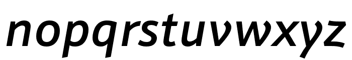 Schnebel Sans Pro Cond Medium Italic Font LOWERCASE