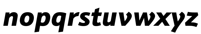 Schnebel Sans Pro Expand Black Italic Font LOWERCASE